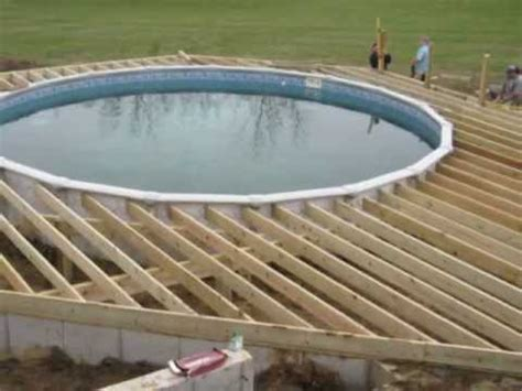 Wrap Around Deck Designs by Above Ground Pool Deck Plans Youtube