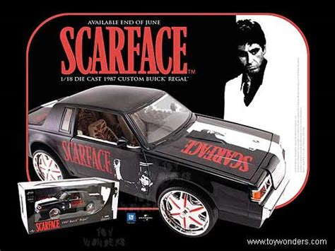 scarface cars 1987 buick regal top by toys scarface 1 18 scale