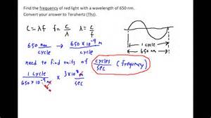 find the frequency of light given its wavelength