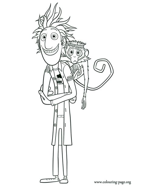 chance of meatballs flint lockwood and steve coloring page