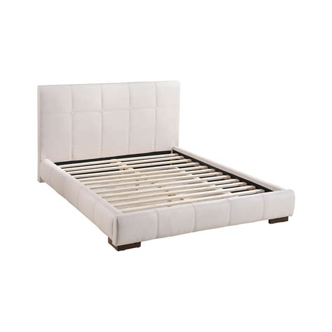 faux leather platform bed zuo amelie faux leather platform bed in white boost home