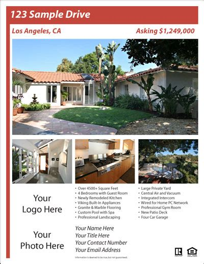 real estate brochure templates free real estate flyer templates the best free paid list