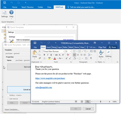 outlook template templates for outlook screenshot windows 8 downloads