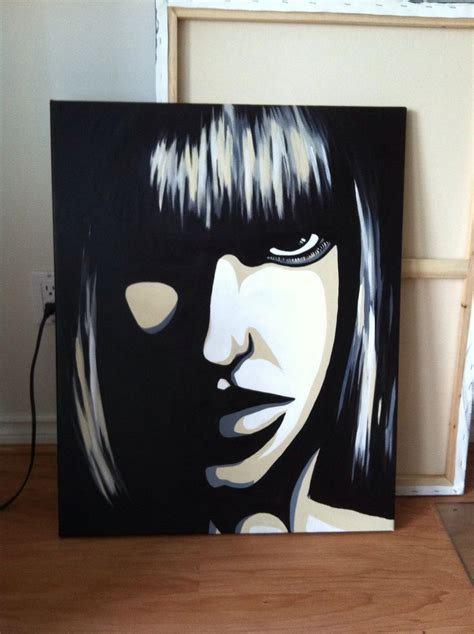 acrylic paint on black canvas acrylic painting on canvas black and white my
