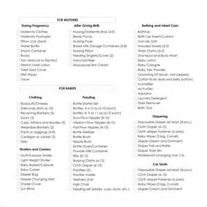 sle baby shower checklist 9 documents in word pdf