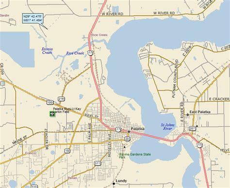 where is palatka florida on a map palatka florida 171 a landing a day