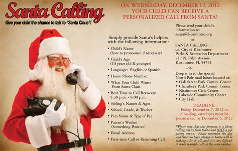 santa claus phone number email address find out here this dec 12 2012 give your child the chance to talk to