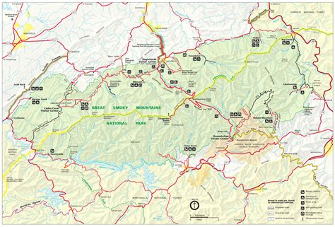 smoky mountains map great smoky mountains maps npmaps just free maps period
