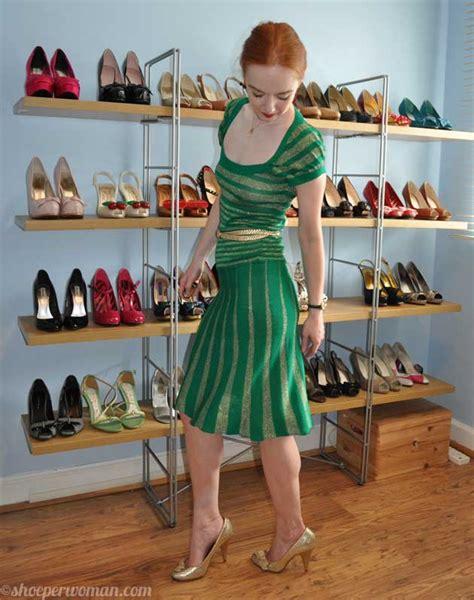 green dress gold rocket shoes gt