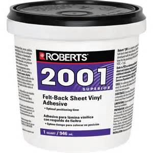 roberts 2001 1 qt felt back sheet vinyl glue adhesive