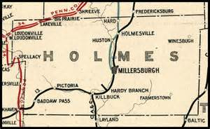 Holmes County Ohio Map by Holmes County Ohio Railroad Stations