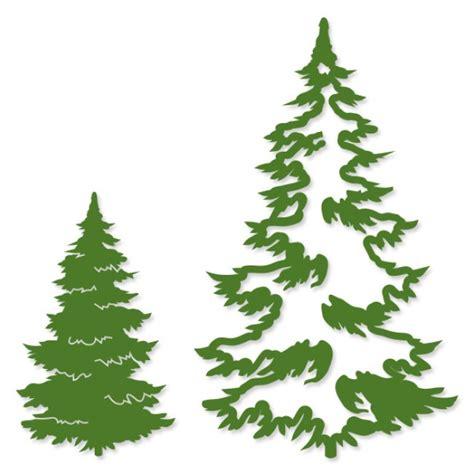 couture creations intricutz dies christmas fir trees