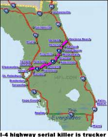 map of florida highways and interstates 40 caliber serial killer roaming i 4 in florida