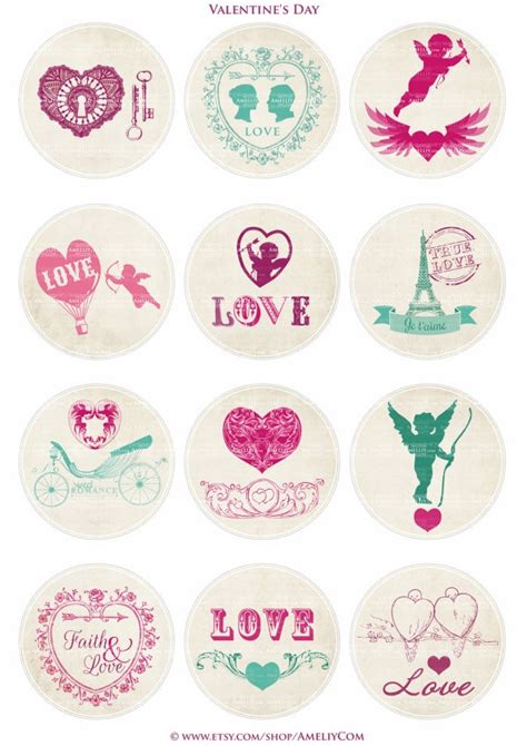 printable stickers heart printable valentine labels stickers tags with pink and