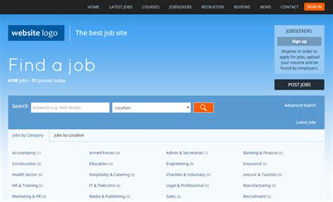 templates bootstrap portal jobs portal php employment script software for jobs