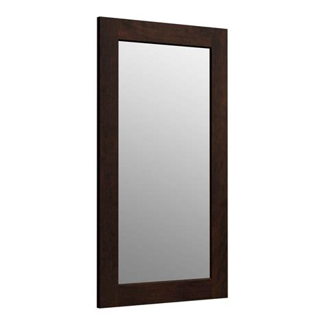 bathroom mirrors new generation 35 w x 15 quot h frameless kohler poplin 36 in h x 21 in d rectangular single