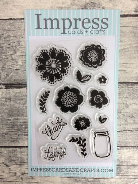 impress rubber sts tukwila our new flower power clear set impress stores