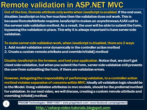 validation pattern in asp net sql server net and c video tutorial part 90 remote