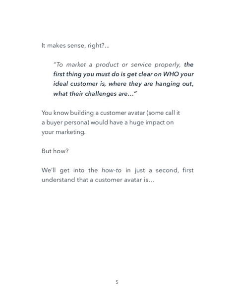 Customer Avatar Worksheet Ebook Template Customer Avatar Template