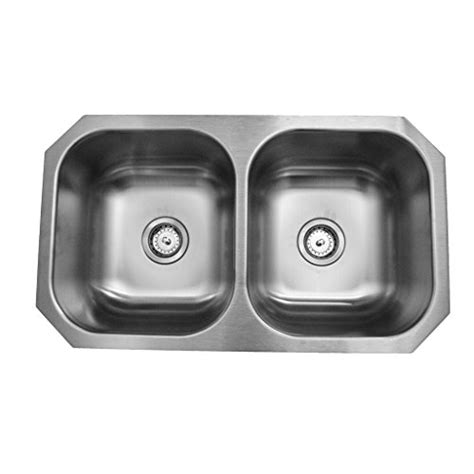 revere kitchen sinks revere rcfu3118 31 x 18 equal bowl stainless