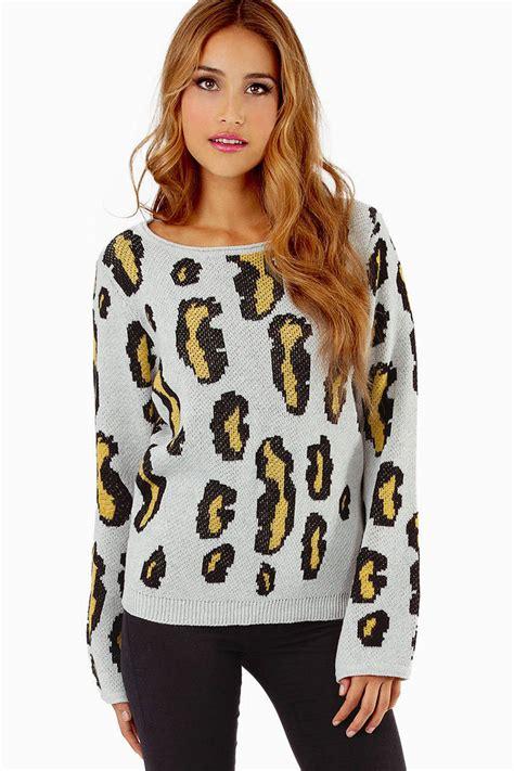 pink sweater leopard sweater animal print sweater