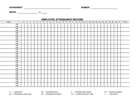 attendance list template sheets for word and excel
