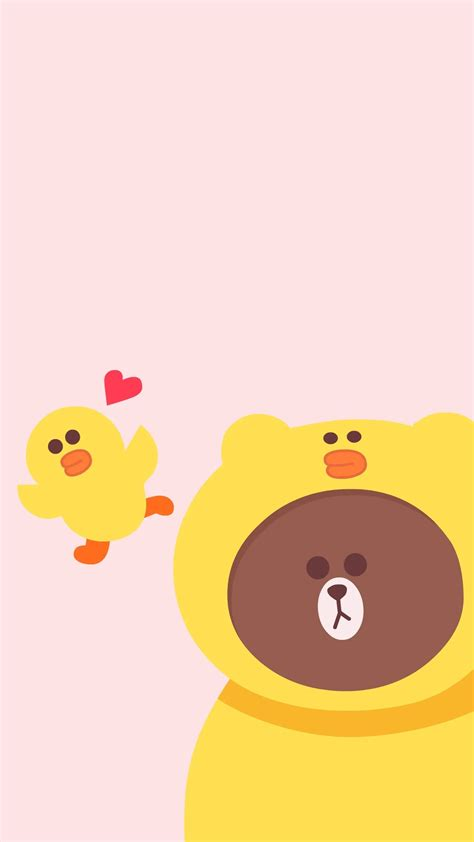 Correction Brown Cony Sally Pin By Pankeawป านแก ว On Wallpaper Line