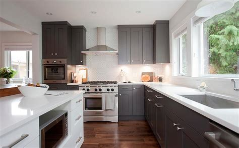dark gray kitchen cabinets grey shaker kitchen cabinets quicua com