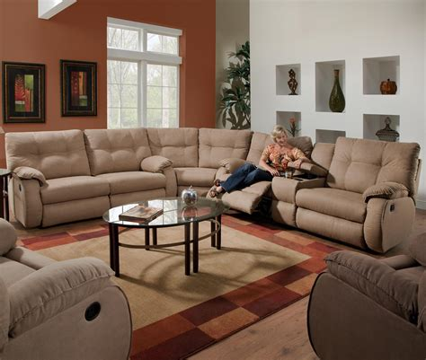 sectionals sofas with recliners dodger reclining sectional sofa by southern motion home