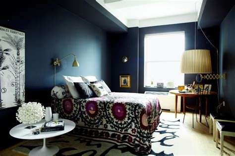 design fixation navy blue purple home decor inspiration