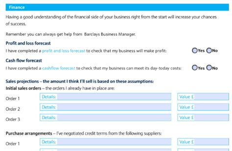 barclays business plan template 28 images business