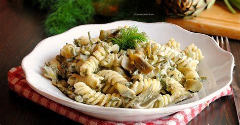 cucinare i finocchietti pasta con carciofi finocchietti e philadelphia