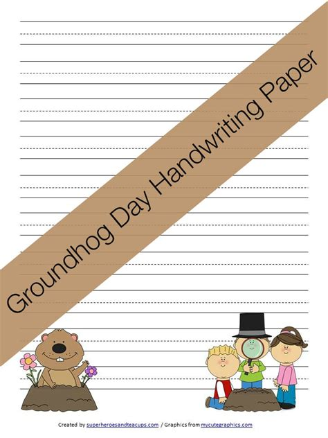 groundhog day journal prompts best photos of groundhog writing paper printable