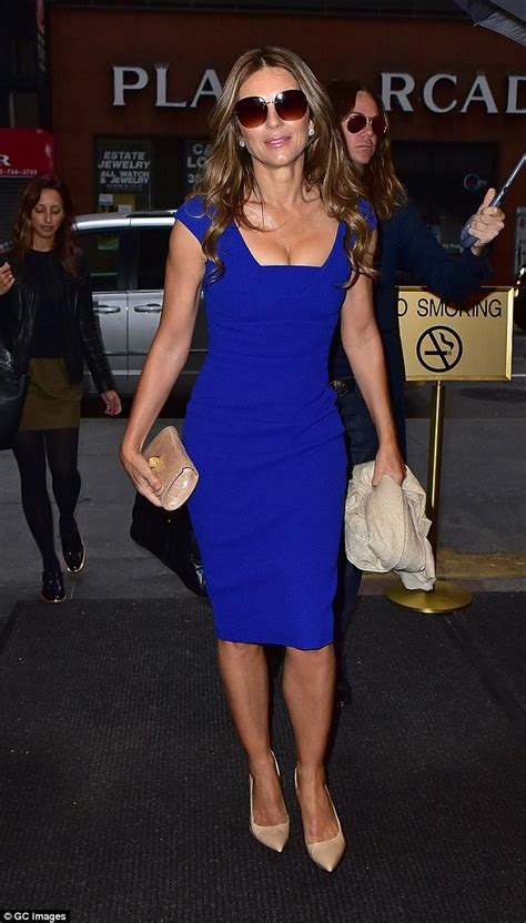 Liz Hurley Dumped For The Second Time This Year by Elizabeth Hurley In Antonio Berardi