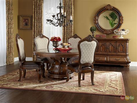 michael amini dining room furniture michael amini tuscano melange round dining room furniture
