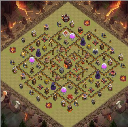 layout coc th 8 keren strategi jitu game coc th 10 paling keren dan terkuat