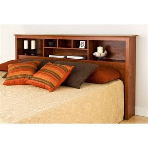bookcase headboards king headboard full queen or king size storage bed wood