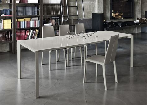 modern extending dining table bontempi dublino extending dining table modern extending