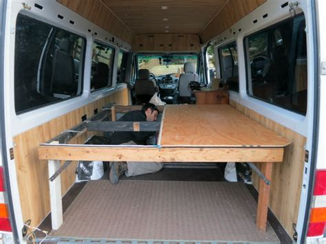 Rv Bed Frames Turns Age Home Sprinter Into Dirtbag Dwelling