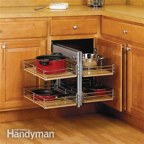 kitchen cabinet blind corner small kitchen space saving tips the family handyman