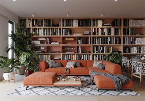 libreria  parete  idee  design  arredare il