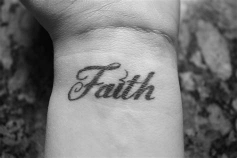 wrist word tattoo faith tattoos designs ideas and meaning tattoos for you