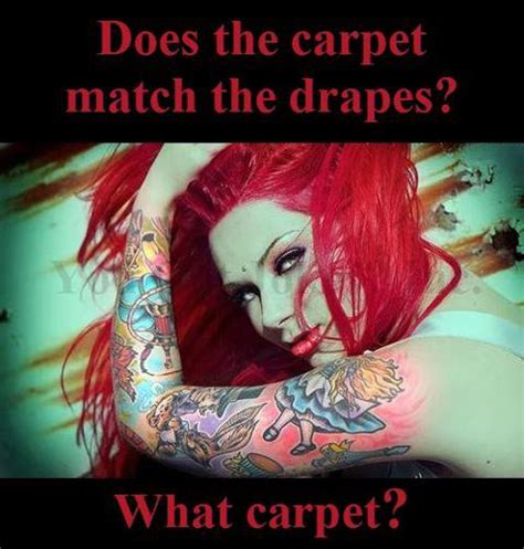 Does The Carpet Match The Drapes The Submission Of Elle