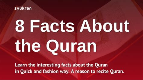 8 Facts On by 8 Need To Facts About The Quran
