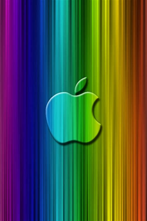 wallpaper for apple ipod touch apple rainbow ipod touch wallpaper background and theme