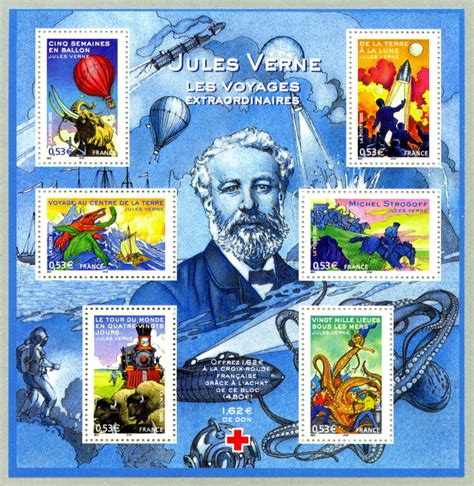 jules verne oeuvres les timbres consacr 233 s 224 jules verne et 224 ses oeuvres