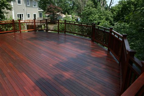 all pro painting co this is a brand new mahogany wood deck located in northport suffolk county
