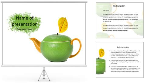 Green Tea As A Way To Health Powerpoint Template Tea Ppt Template Free