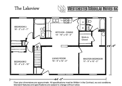 the cypress ranch style modular home floor plan lakeview by westchester modular homes ranch floorplan
