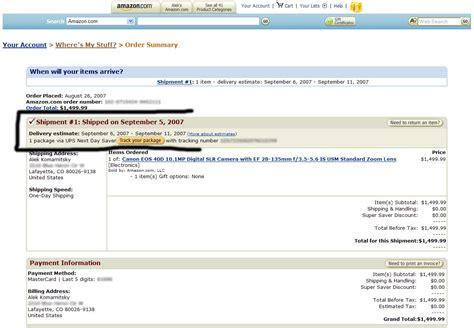 amazon order canon 40d amazon shipping saga